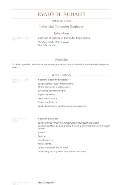 Network Security Engineer Resume samples - VisualCV resume samples ...