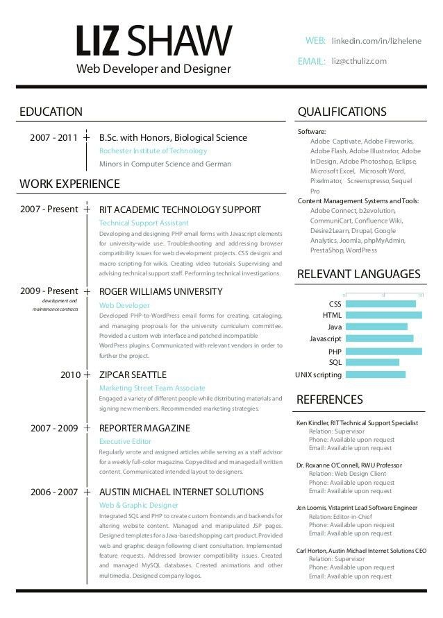 resume format for web designer web developer resume example cv