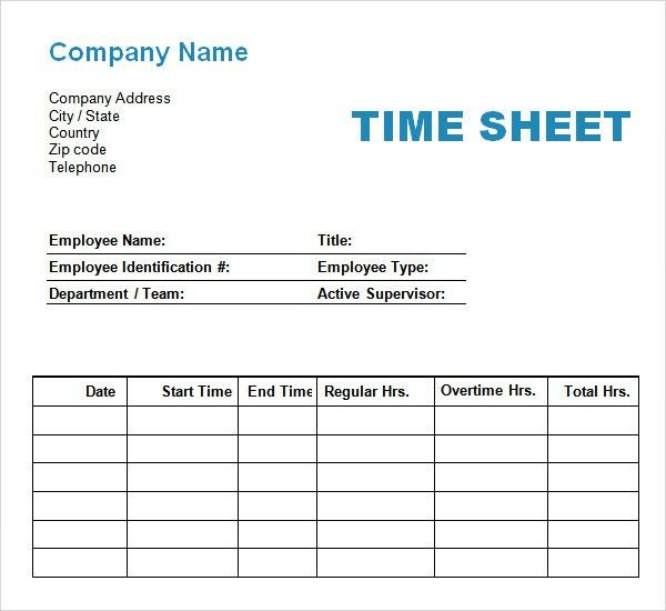 Sample Time Sheet. 8+ Bi Weekly Timesheet Template | Invoice ...