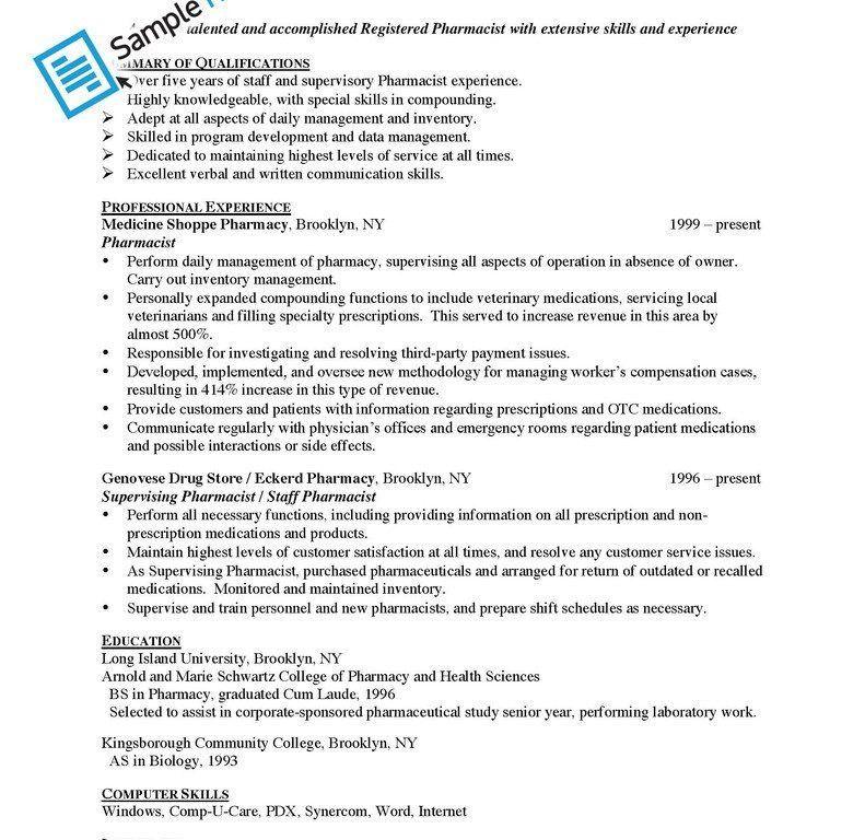 Mesmerizing Sample Pharmacist Resume 3 Animal Care Assistant Cover ...