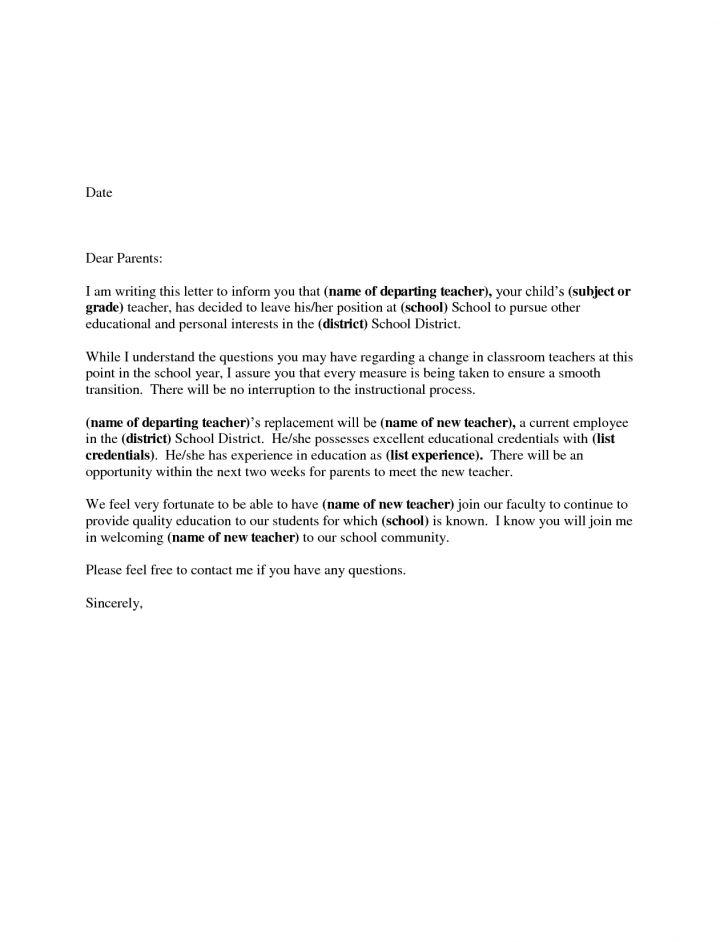 Resignation Letter Format: Top Ten Preschool Teacher Resignation ...