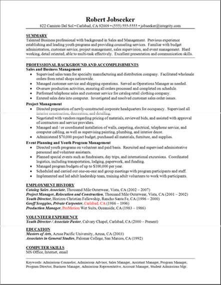 examples of resumes resume examples good resume experience ...