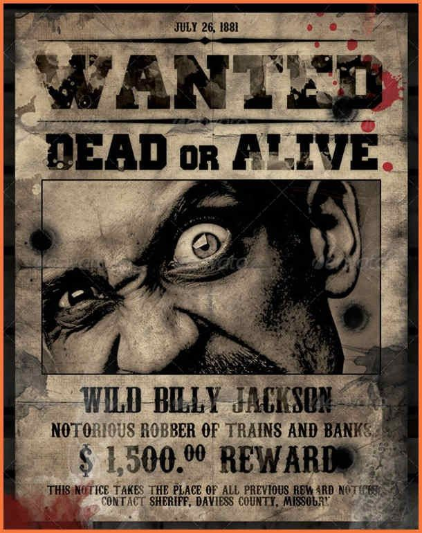 wanted poster template | bio letter sample