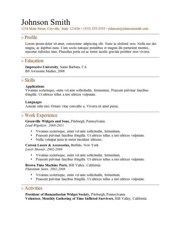 Resume Examples. best 10 examples resume templates word free ...