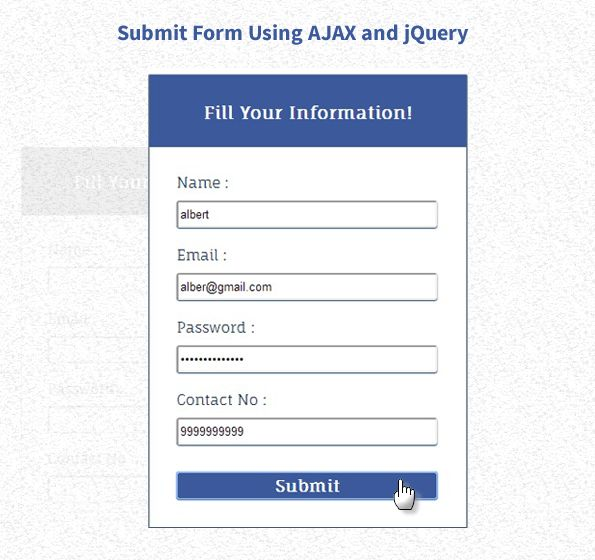 Submit Form Using Ajax, PHP and jQuery | FormGet