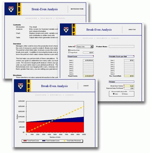 HBS Toolkit Break-Even Analysis - HBS Working Knowledge - Harvard ...
