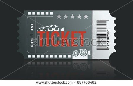 Cinema Ticket Sample Template Design Trendy Stock Vector 691267375 ...