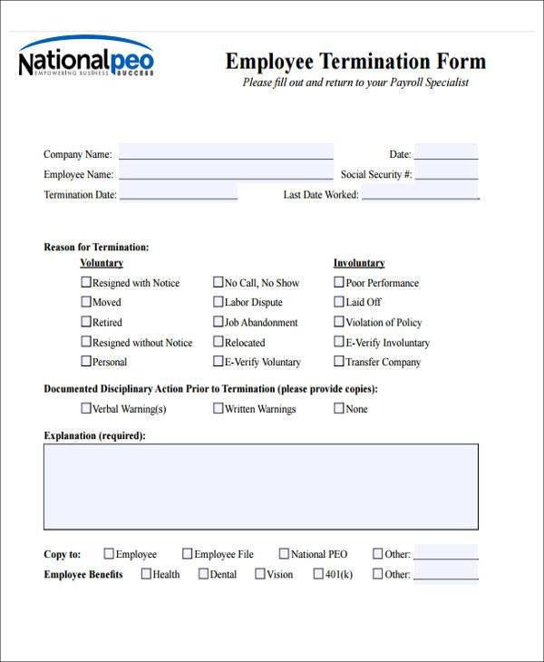 Employee Notice Form  BesikEightyCo