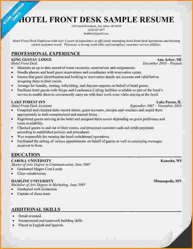 10+ front desk for medical office resume | Invoice Template Download