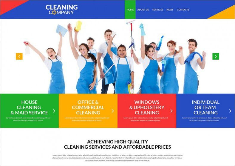 16+ Cleaning Company WordPress Templates & Themes | Free & Premium ...