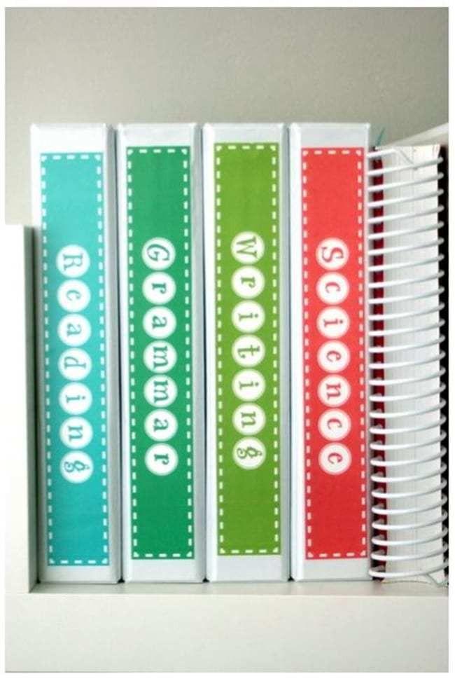 Binder Spine Labels - Free Printable - Teach Junkie