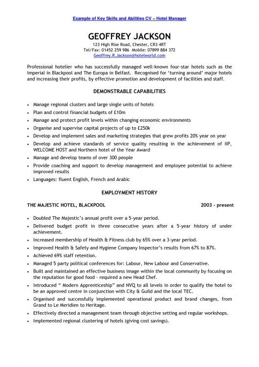 ideas of skill based resume samples in download proposal. sales ...