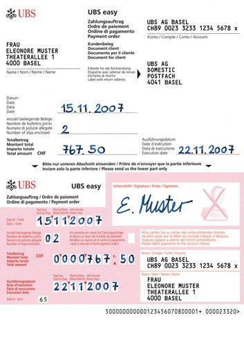 Payment slips: for easy, convenient payments | UBS Switzerland