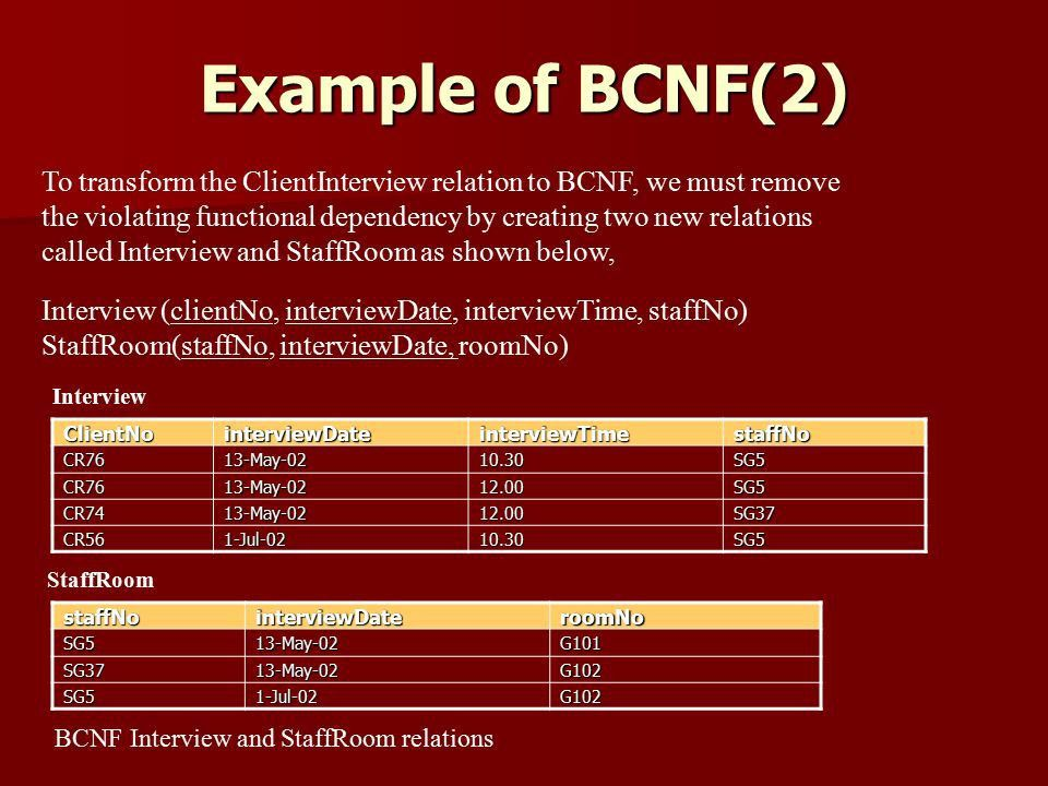 The Normal Forms 3NF and BCNF - ppt download