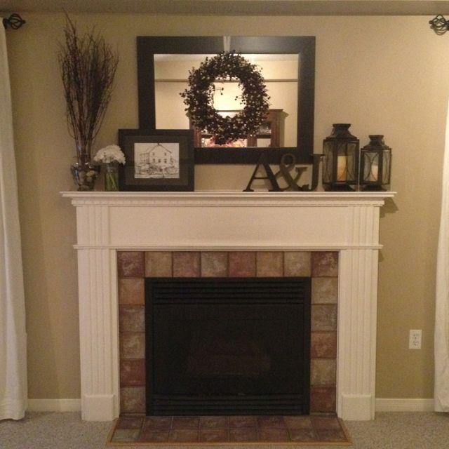 Fireplace Decor Ideas Part - 48: Fireplace Mantle Decorations #DIY Painted Letter | Home Decor | Pinterest |  Fireplace Mantle Decorations, Painted Letters And Fireplace Mantles