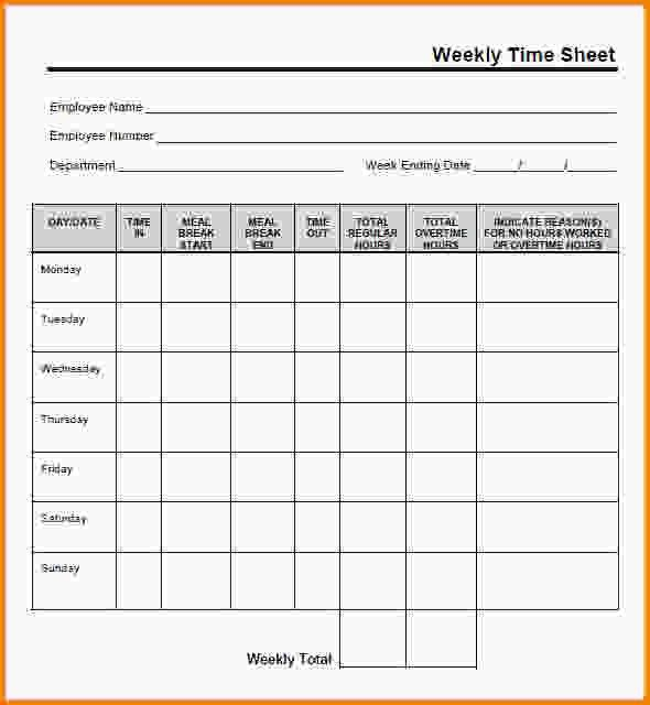 Free Timesheet Templates.Weekly Timesheet Template Free Download ...