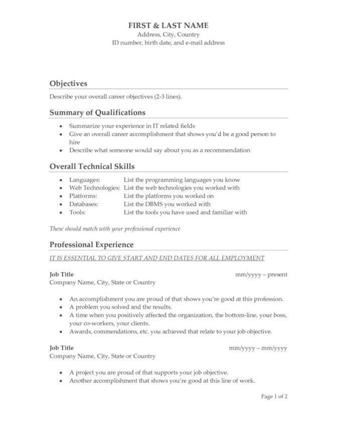 Good Resume Objective Lines - Contegri.com