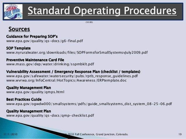 How To Write A Standard Operating Procedure. Process Overview ...