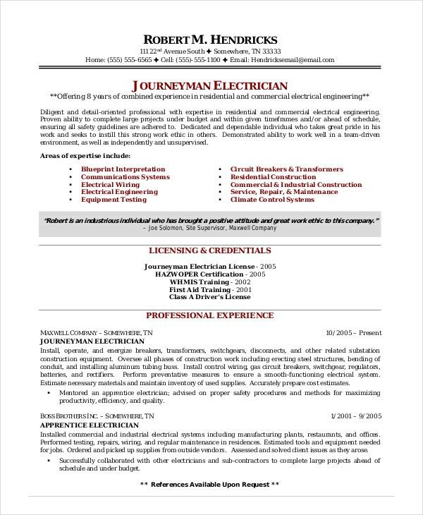 Download Certified Electrical Engineer Sample Resume ...