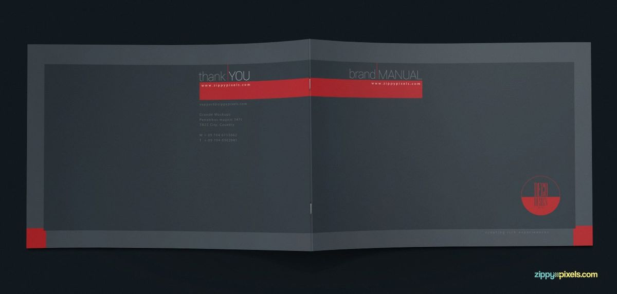 Brand Book Template for Corporate Guidelines - A4 Horizontal ...