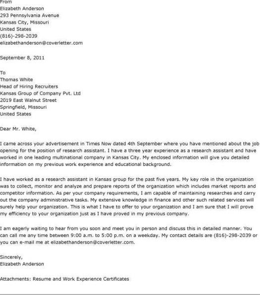 how to write a cover letter research   How To