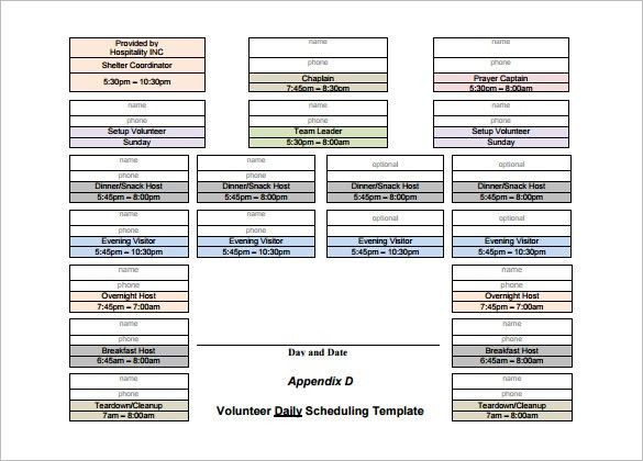 Volunteer Schedule Template - 10+ Free Sample, Example Format ...