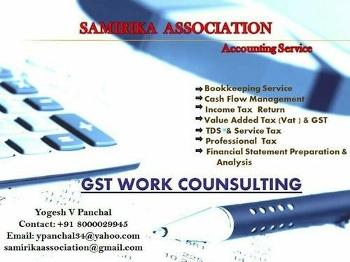 Accounting Work & GST Consultant Service Provider from Ahmedabad