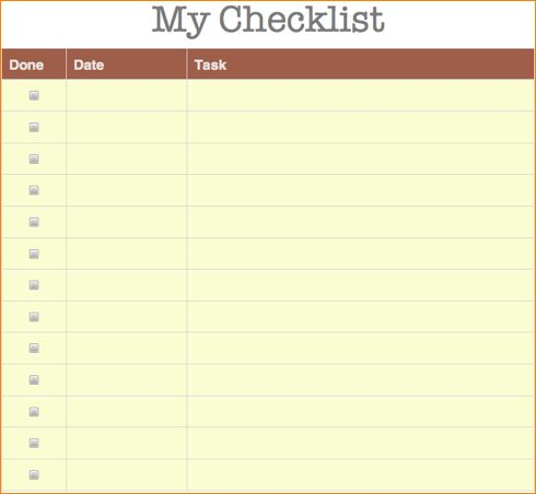 4+ check list template | Outline Templates