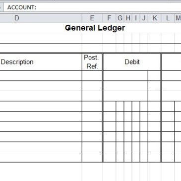 General Ledger Spreadsheet Template Archives - Word Templates