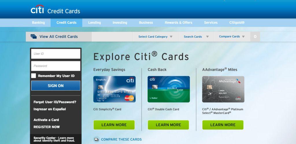 Citibank Credit Card Business Login #12514