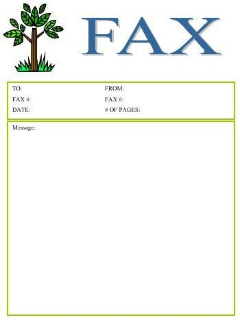 Tree Fax Cover Sheet at FreeFaxCoverSheets.net