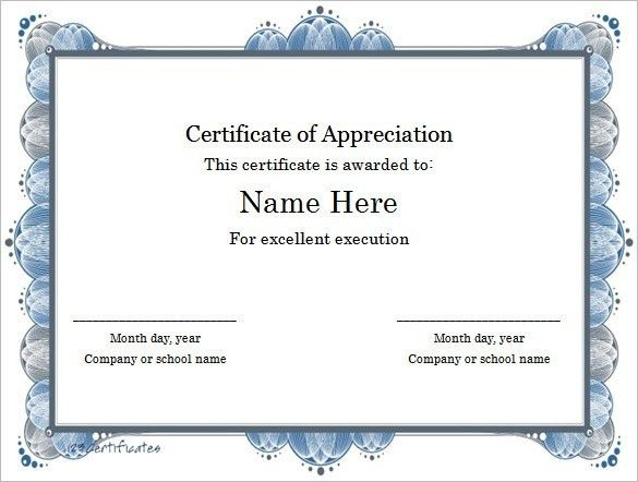 Microsoft Word Template Certificate   The Best Letter Sample