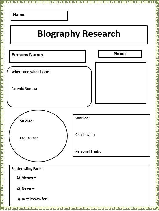 Biography Generator - K-5 Computer Lab Technology Lessons
