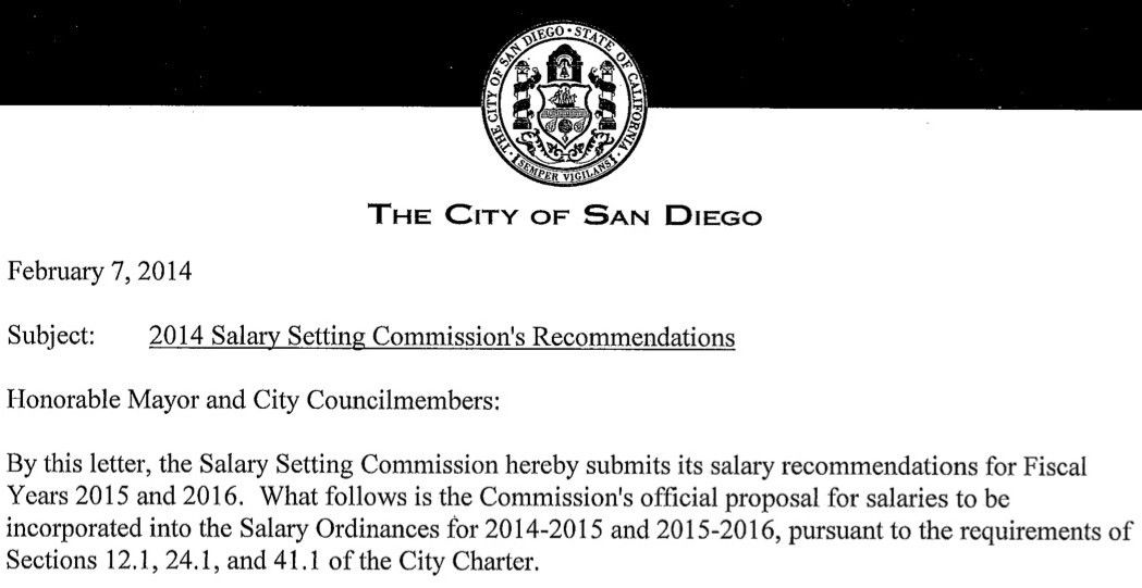 San Diego to Weigh Salary Panel's Opposition to Mayor, Council Pay ...