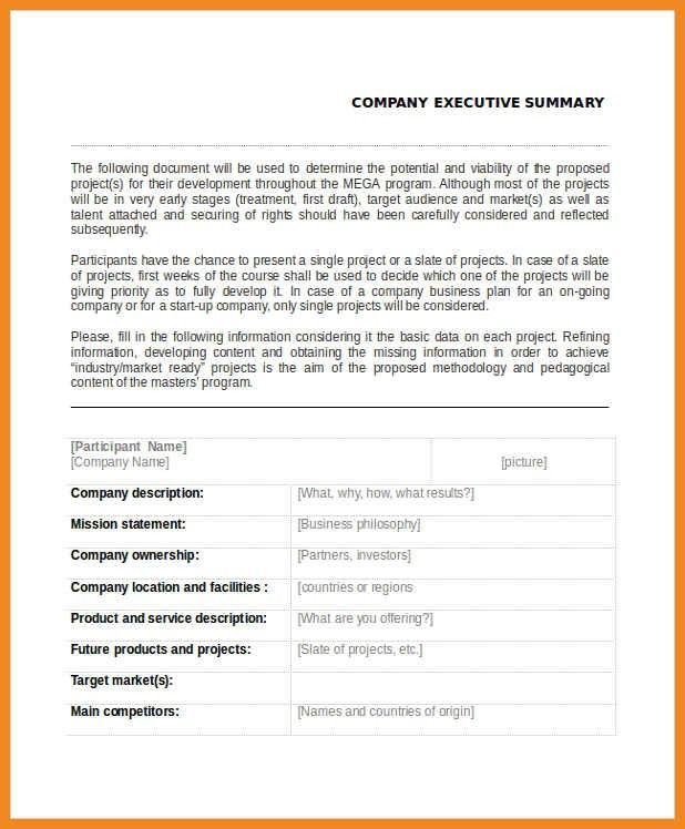 executive summary examples | art resume examples