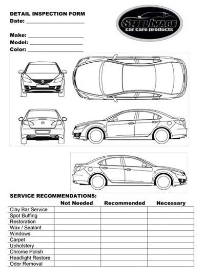 Vehicle Inspection Form. Multi-Point Vehicle Inspection Form ...