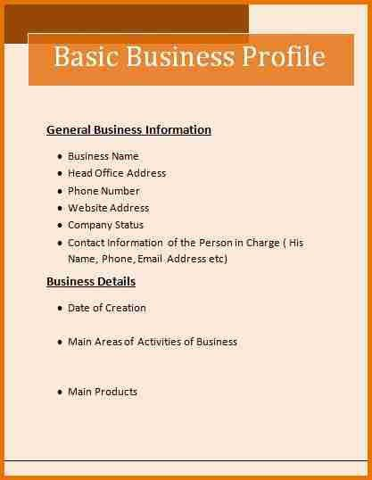 Template For Business Profile. how to write a company profile and ...