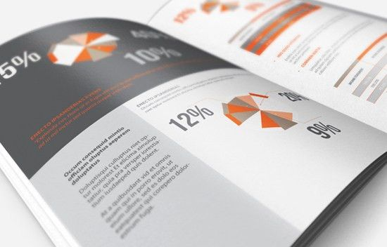 InDesign Annual Report / Brochure Template | Economy App ...