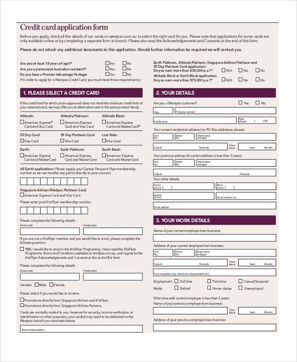 Sample Credit Application - 10+ Free Documents in PDF