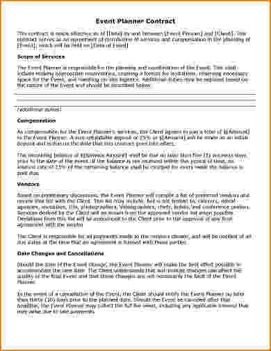 10+ event planner contract template | bibliography format