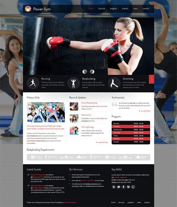 Fitness Templates Free | Jobs.billybullock.us