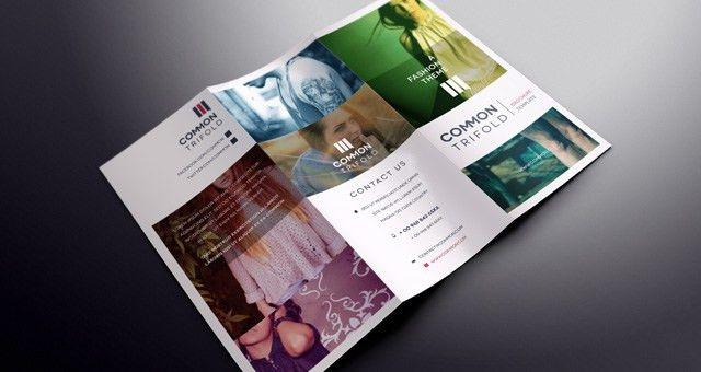 Simple Tri Fold Brochure Template | Brochure Templates | Pixeden