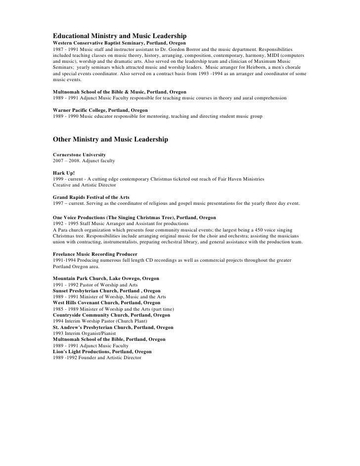 sample pastoral resume lead pastor resume samples visualcv resume
