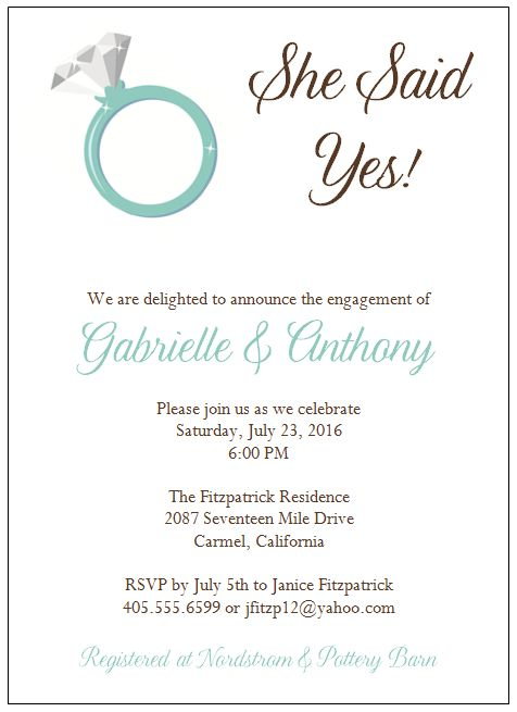Engagement Party Invitation Wording - plumegiant.Com