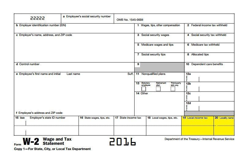 Ohio Form W-2 School District Reporting Starts With 2016 Tax Year