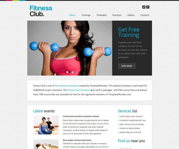 25+ Free Gym and Fitness HTML5 Templates
