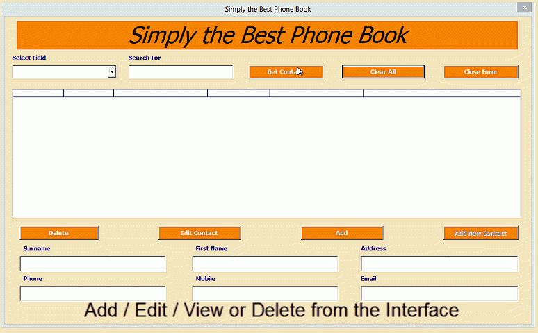 phone book template excel - Template