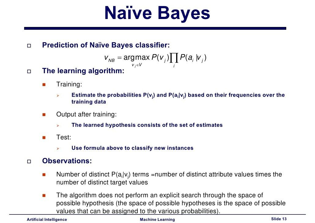 Lecture10 - Naïve Bayes