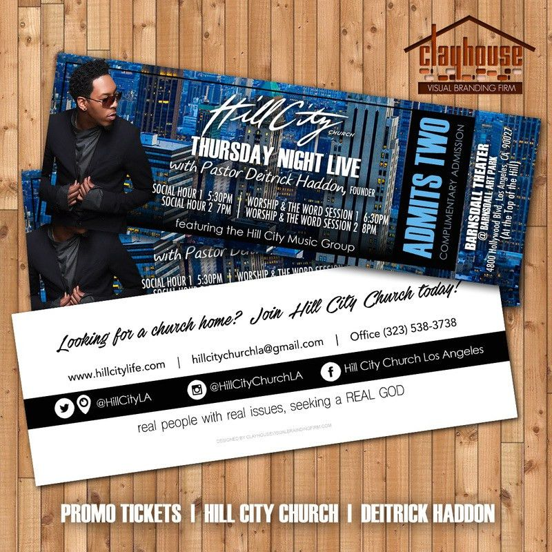 Event Tickets - ClayHouse Visual Branding Firm