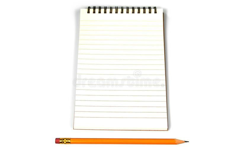 Blank Lined Paper And A Pencil Royalty Free Stock Images - Image ...